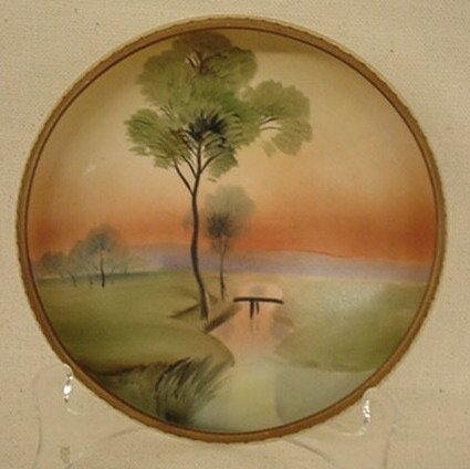 2020: Nippon 3-footed hand-painted bowl