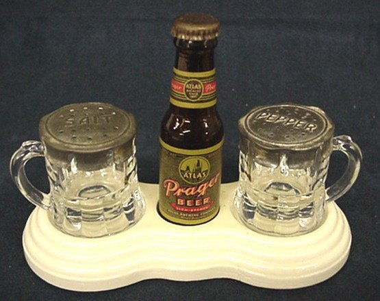 2023: Prager Beer Advertising salt & pepper set