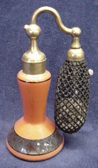 5020: Orange glass with black design, DeVilbiss atomize