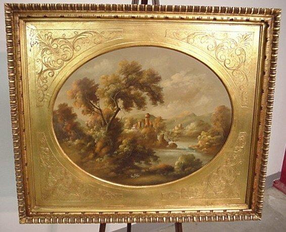 "5262: Oil Painting ""Landscape"" by ""Van Ros"""
