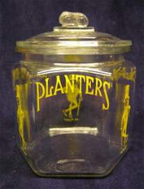 7099: Planters Mr. Peanut store jar with lid