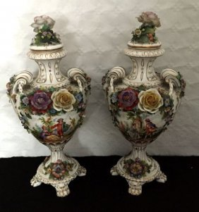 Vienna Porcelain Vases