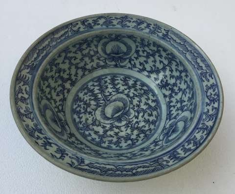 Chinese light blue porcelain bowl