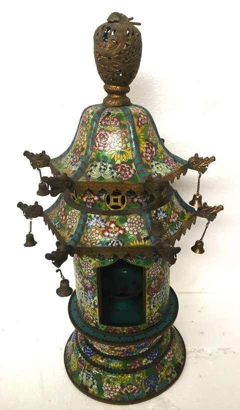 Chinese lantern in cloisonnè