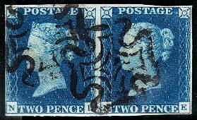 Stamps : Queen Victoria: Line Engraved