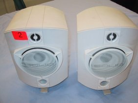 """2: Set of two Solid 4"""" speakers, 150 watts ma"""