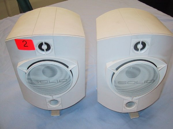 "2: Set of two Solid 4"" speakers, 150 watts ma"