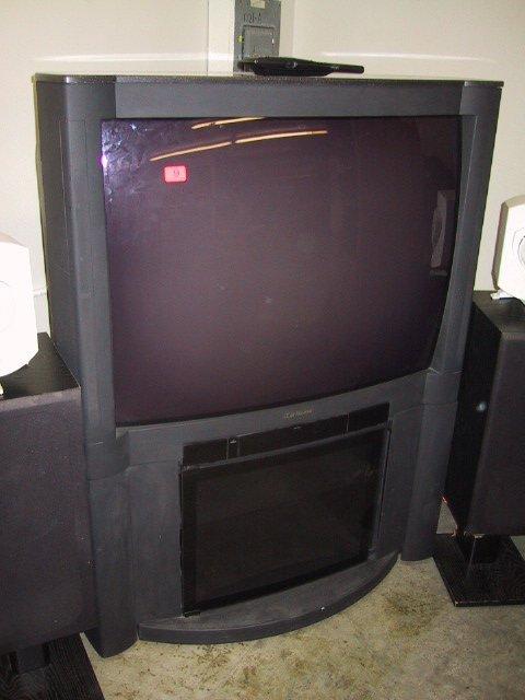 "9: Mitsubishi 40"" screen T.V., model #-CS-405"