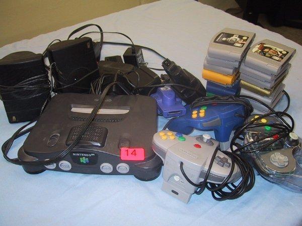 14: Nintendo 64 game system, games, accessori