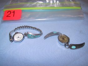 21: Two timex ladies watches w/ turquoise