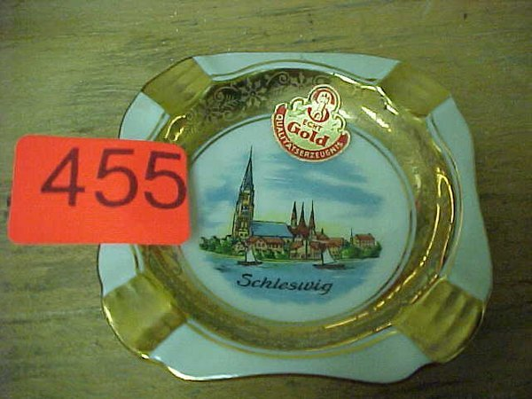 "455: Etched 24K gold ""Schleswig"" decoration p"