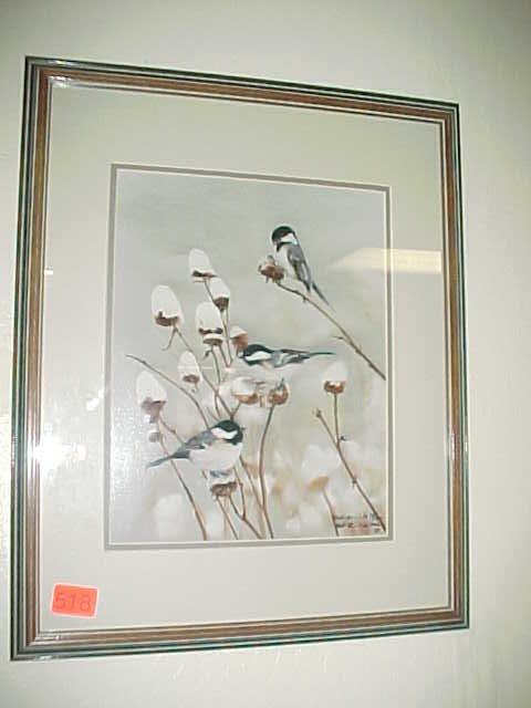 518: Signed numbered framed print 78/350