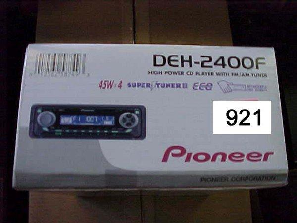 921: Pioneer Car CD Player DEH2400F