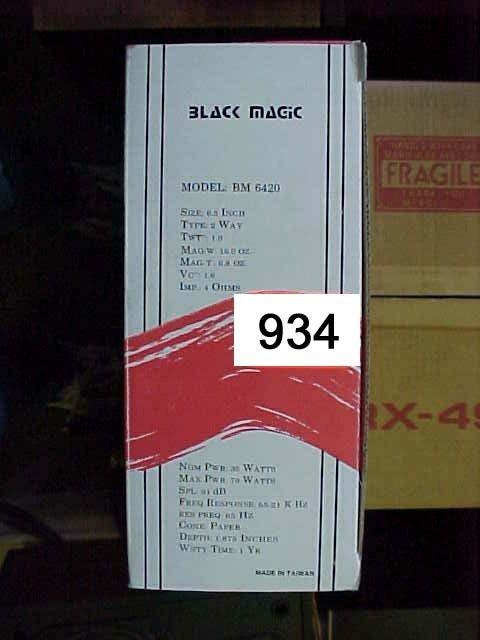 "934: Black Magic BM6420 Car Speaker  6.5"" 2-w"