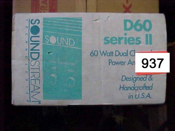 937: Soundstream D60 series 2 60 Watt Power A
