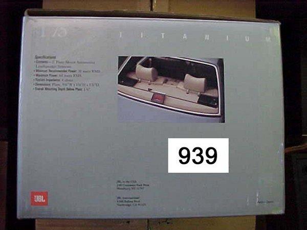 939: JBLT75 Car Plate Speaker 2-way 60 Watts