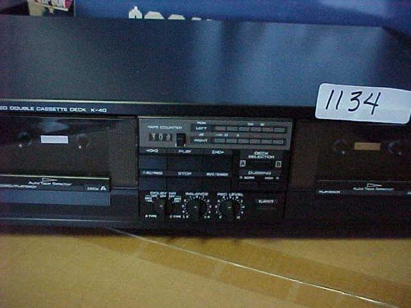 1134: Yamaha K40 Stereo dubbing deck - 2