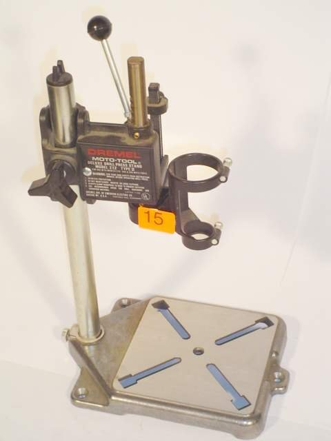 15: Dremel Moto-tool deluxe drill press stand