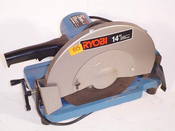 "65: Ryobi 14"" abrasive cut-off saw, Model C-3"