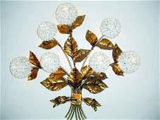600: Hydrangea flower wall mount lighting fix