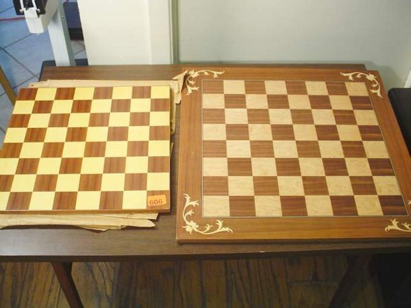 606: 2 Wooden Chess Boards