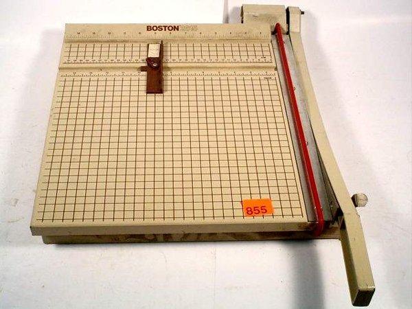"""855: Boston 2615 15"""" wide paper cutter"""