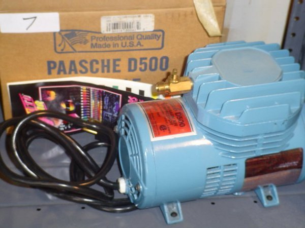 7: Paasche D500 air compressor.  110 HP