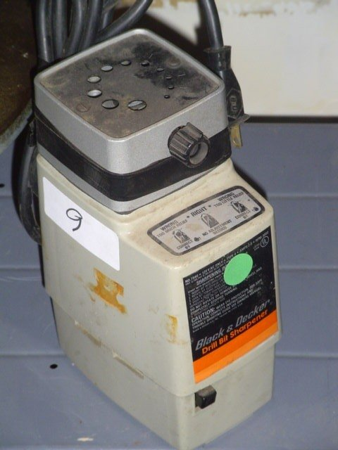 9: Black & Decker drill bit sharpener.