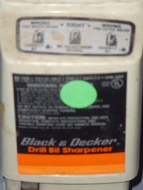 9: Black & Decker drill bit sharpener.    - 2