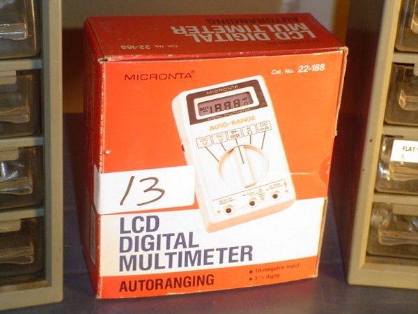 13: Micronta LCD Digital Multimeter
