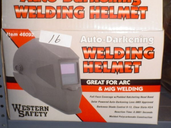 16: Model 46092 Auto-Darkening Welding Helmet