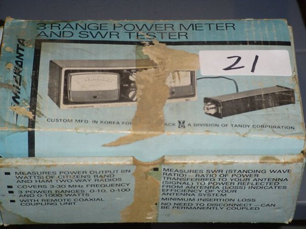 21: Micronta 3 range power meter and SWR test