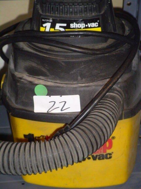 22: Hang-up Shop Vac 1 horsepower, 1 gallon