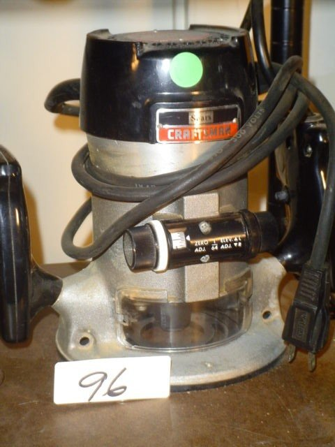 """96: Craftsman Model 315.17381 router, 1/4"""" co"""