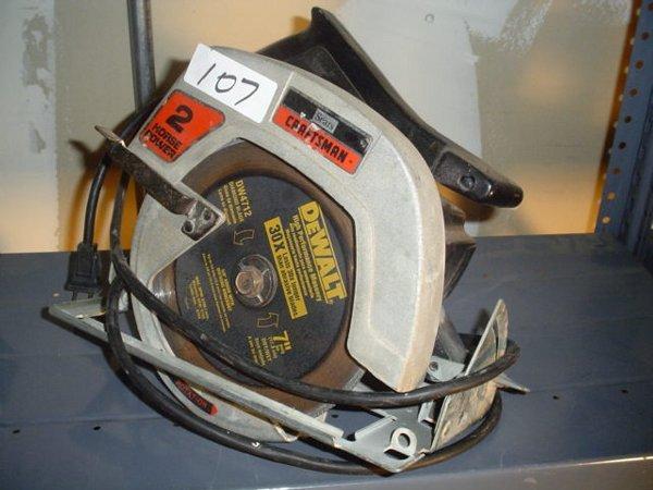 "107: Craftsman 2 HP 7-1/4"" circular saw Model"