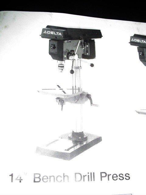 """216: Delta 14"""" bench drill press.  115/230 V - 2"""