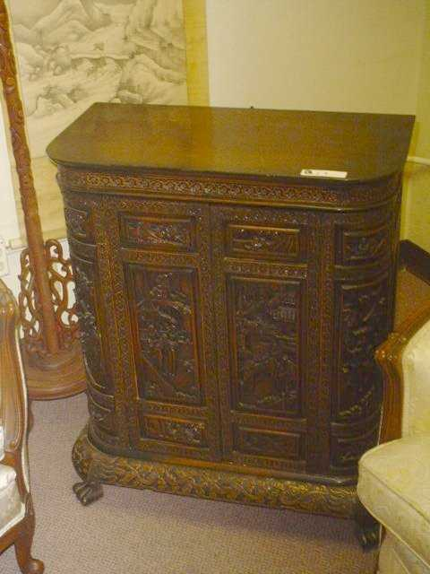 - 813: Vintage Japanese Liquor Bar Cabinet On LiveAuctioneers
