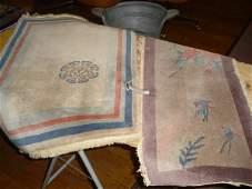 "988: Oriental rugs.  (1) 35"" x 14"" hand tied, all wool."