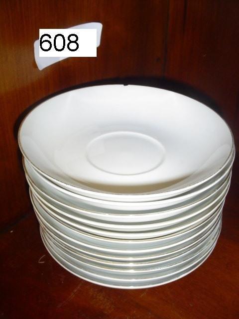 608: Set of 12 Noritake saucers, made in Japan. Pattern