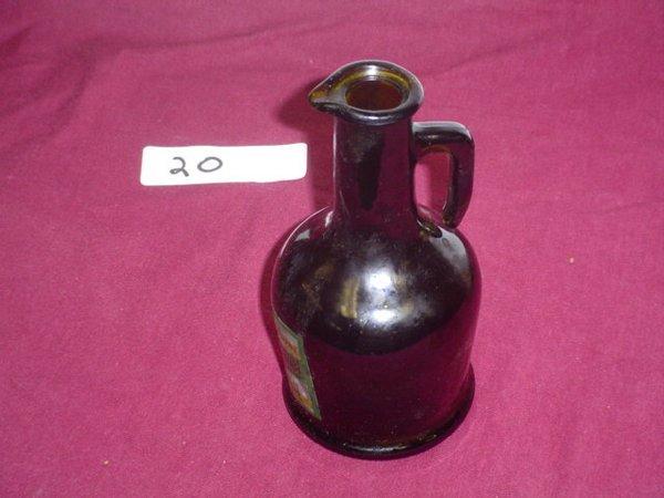 620: Glass bottle with handle, esterer 100% reines baue