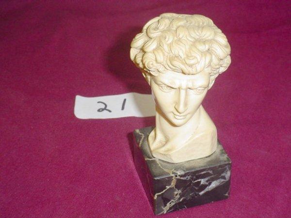 621: Bust of David's head.  Sculptor Gruggeri, made in
