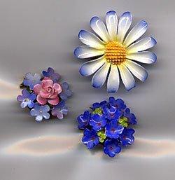 1212: 3 English flower pins