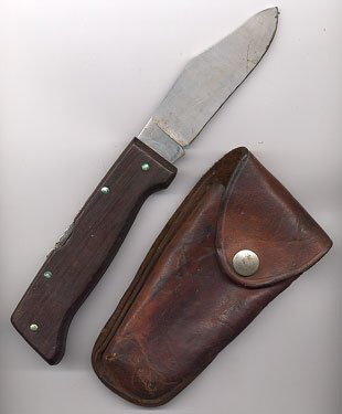 1318: Imperial Wildcat Skinner Knife leather case