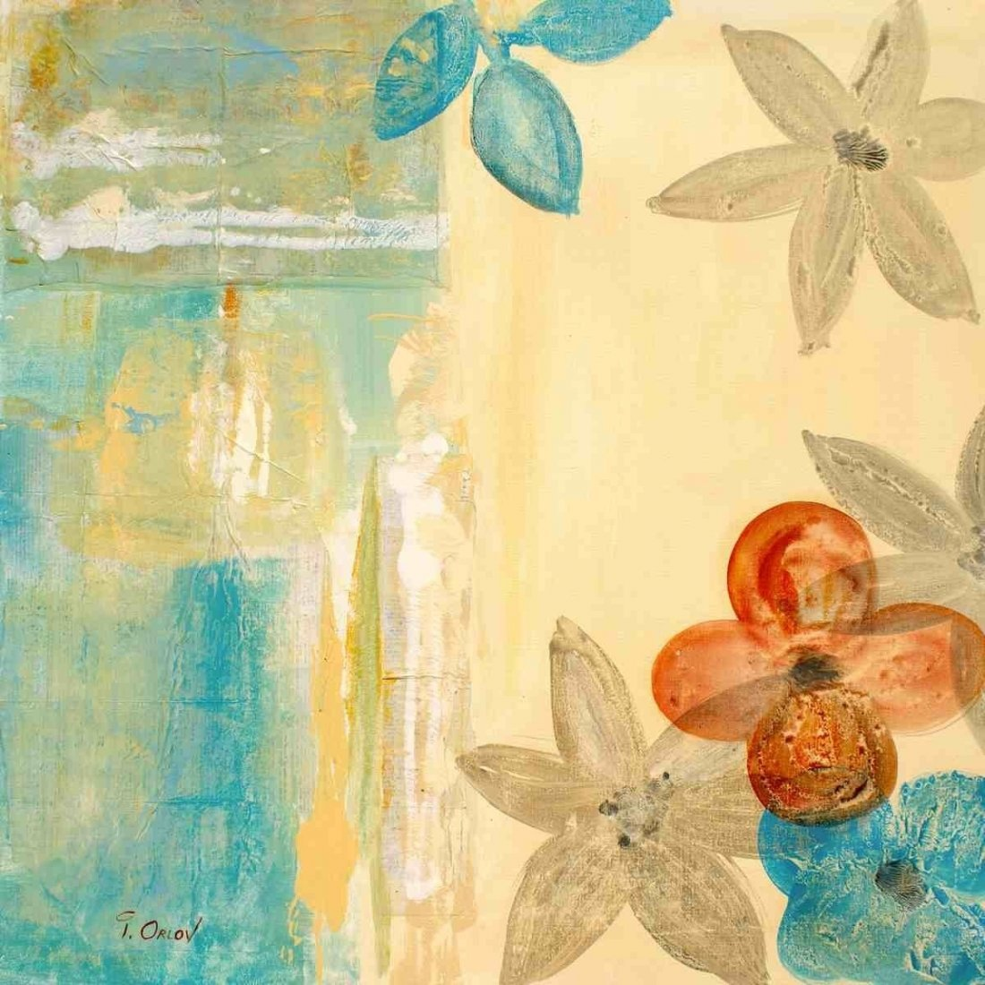 """Abstract Garden, Irena Orlov, Acrylic on canvas 24x24"""""""