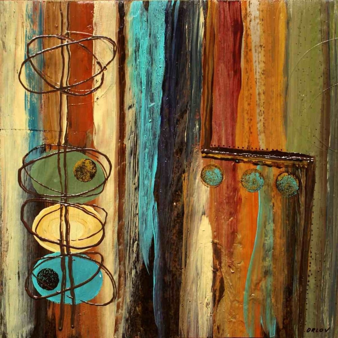 """12"""" x 12"""" In the mix I by Irena Orlov"""