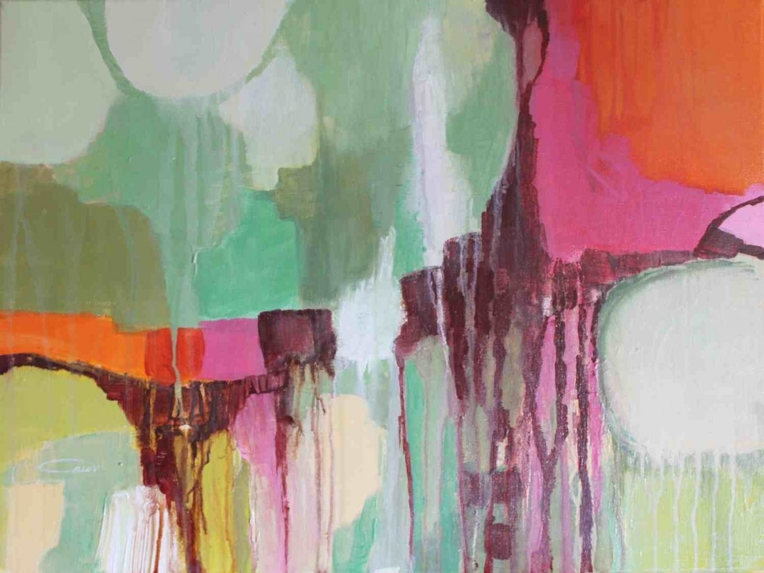 Emotions in Color Abstract 1813, Acrylic on canvas