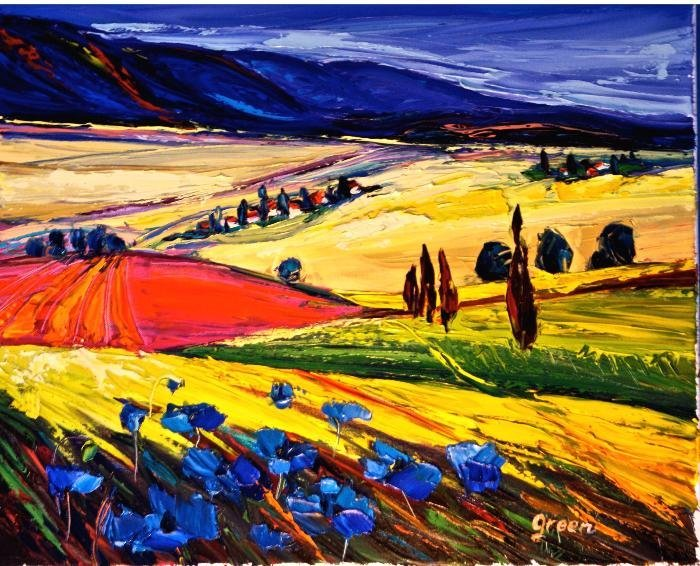 Galilee, Landscape, oil painting