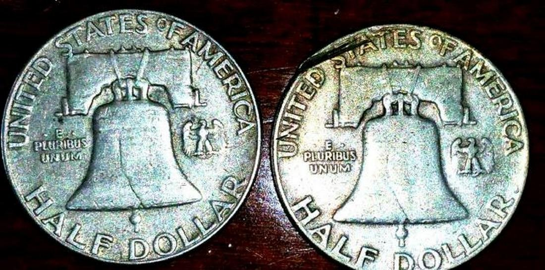 1953 & 1960 Franklin Half Dollar - 3