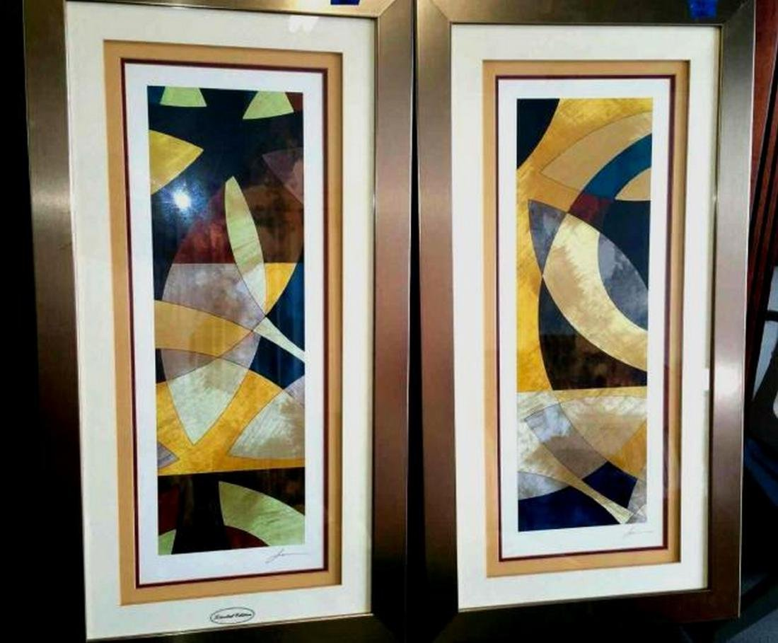 Elliptical Path signed by James, Limited Edition, Pair