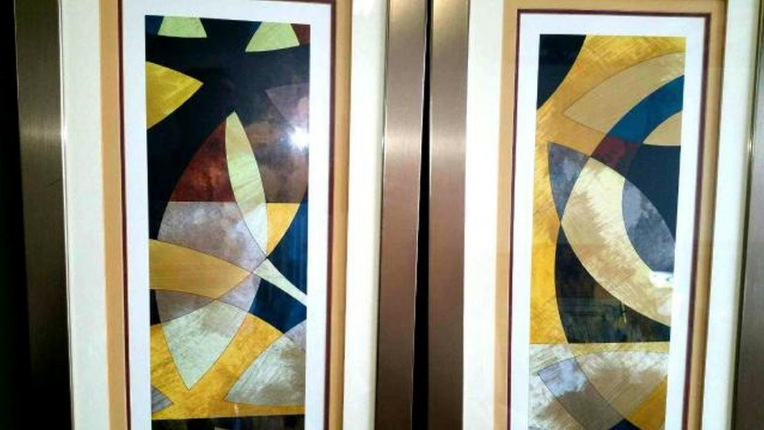 Elliptical Path signed by James, Limited Edition, Pair - 3
